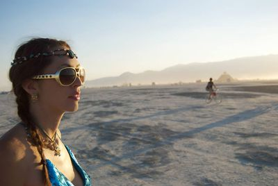 Kristin Addis at Burning Man