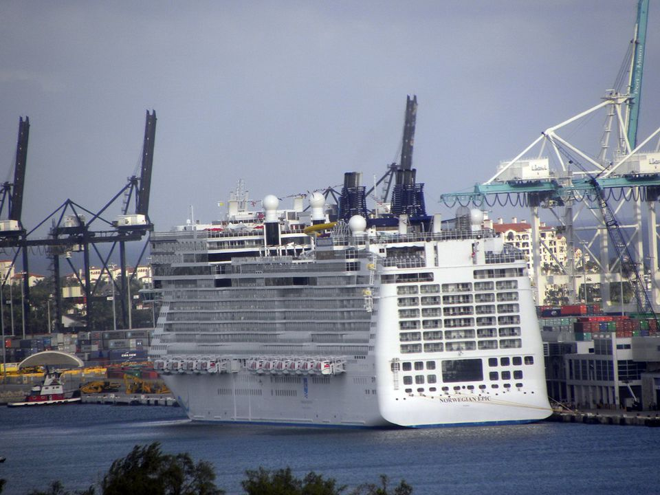 Norwegian Epic at the Dock in Miami