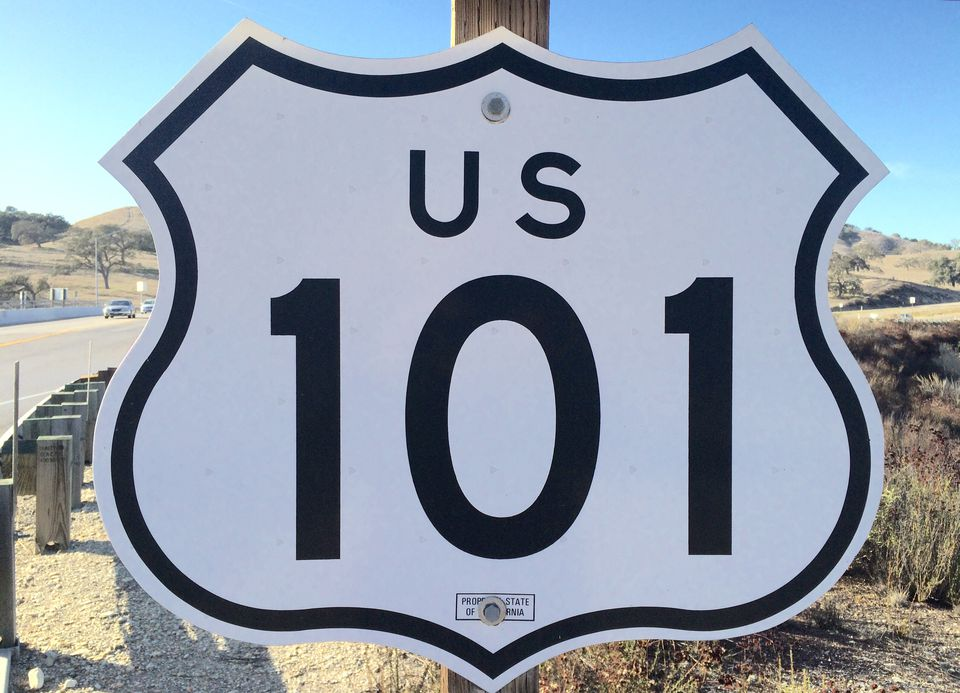 Route 101 sign
