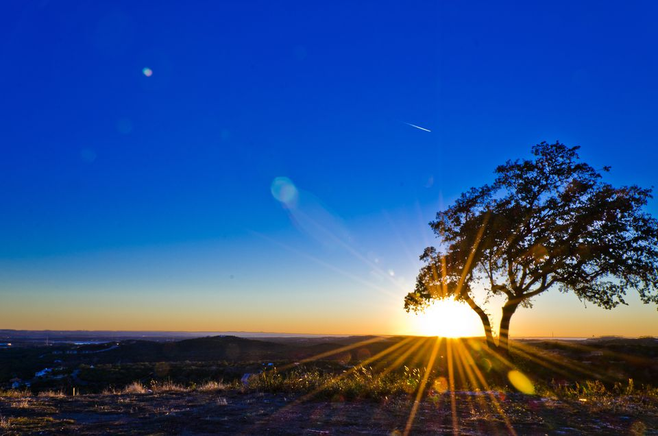 Texas Hill Country at Sunset