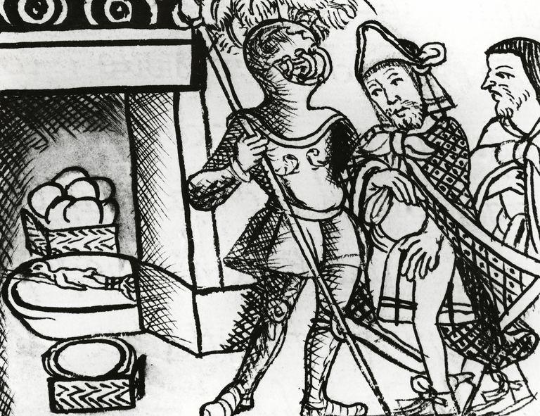Drawing of Aztec leader Montezuma