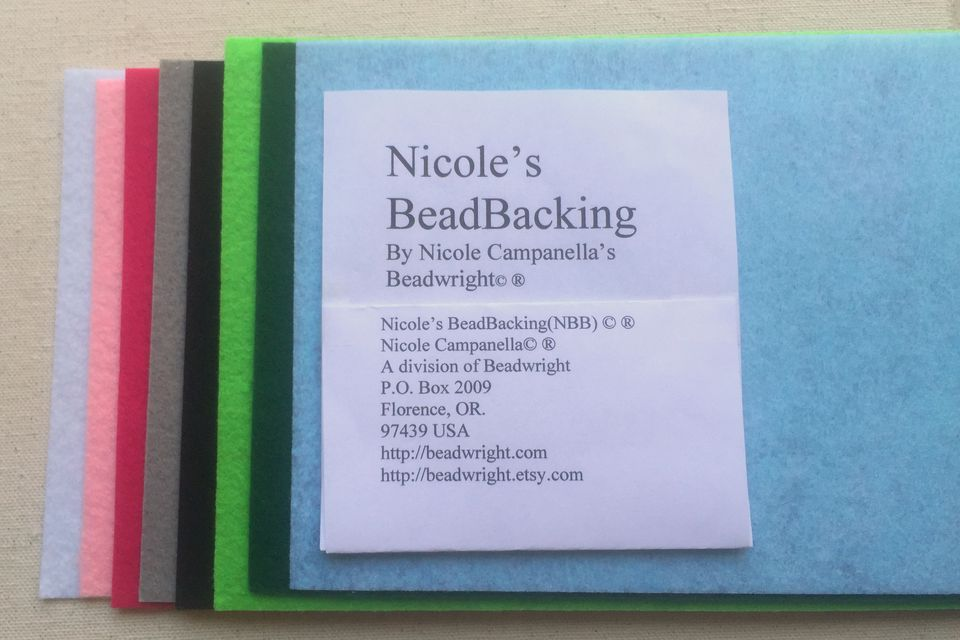 Nicole's Bead Backing bead embroidery foundation