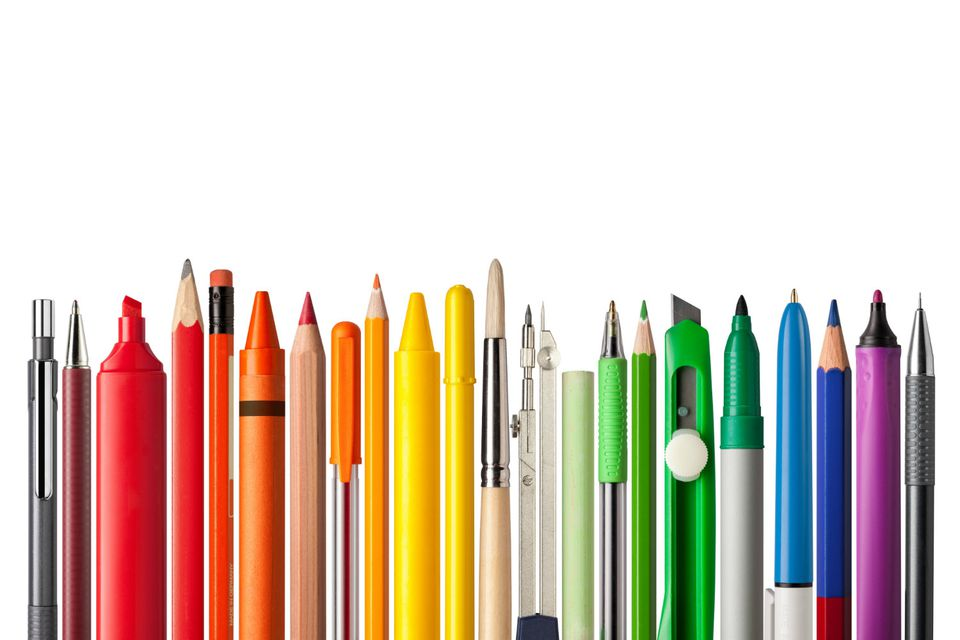 Pens, Pencils, Sharpie, and Highlighters, aka the basics