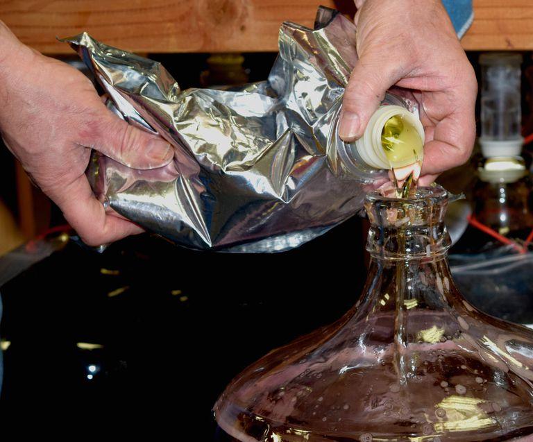 Hands Making Wine