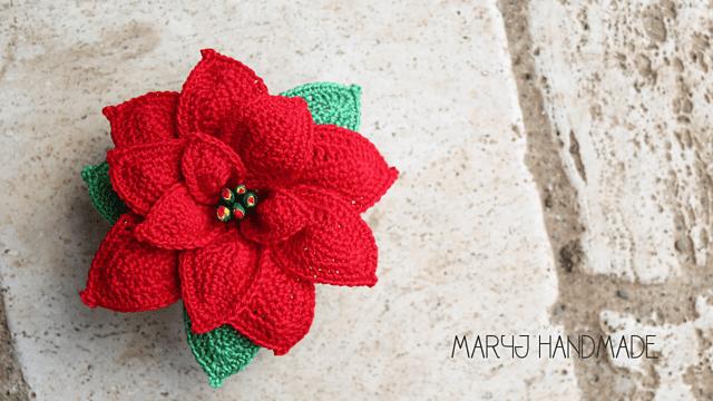 Crochet Poinsettia Flower Pattern FREE Video Tutorial