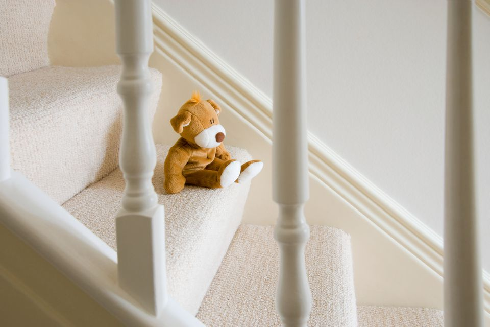 Soft Toy On Stairs