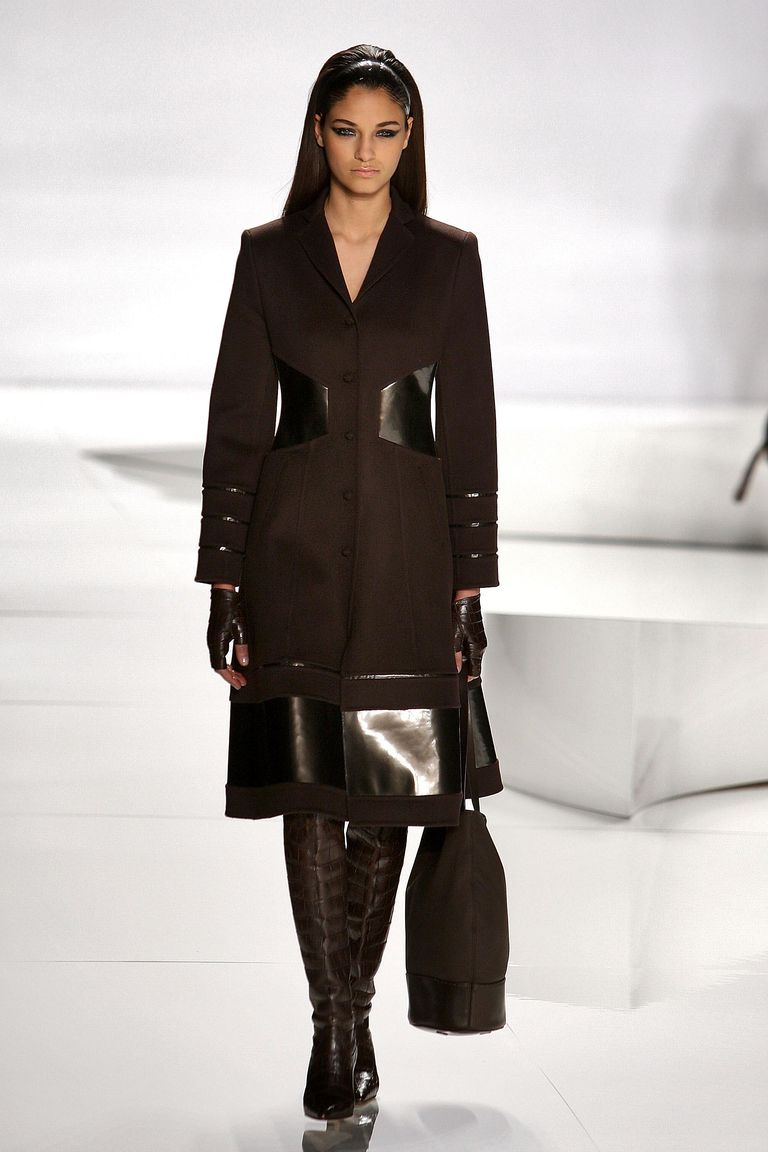 Here A Model Walks The Runway In Brown Monochromatic Style At Chado Ralph Rucci Fall Fashion Show Milan February 2009
