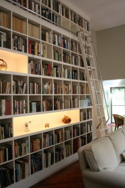 Home library with collection displays Libraries  25 Stunning Design Ideas