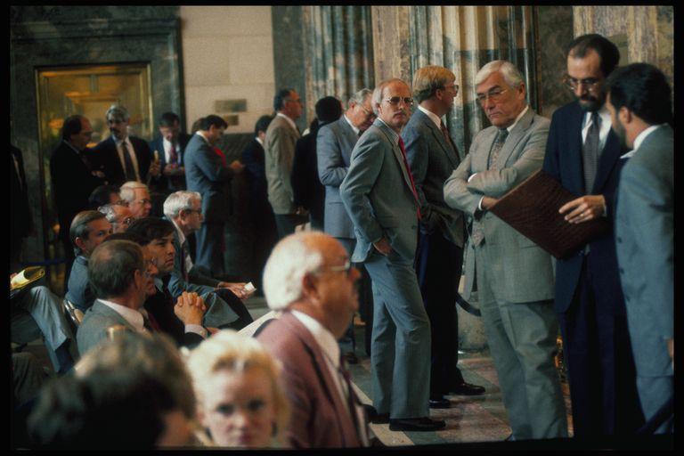 Lobbyists in Louisiana Senate Chamber