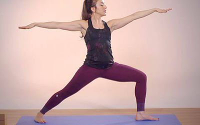 how to do warrior ii  virabhadrasana ii
