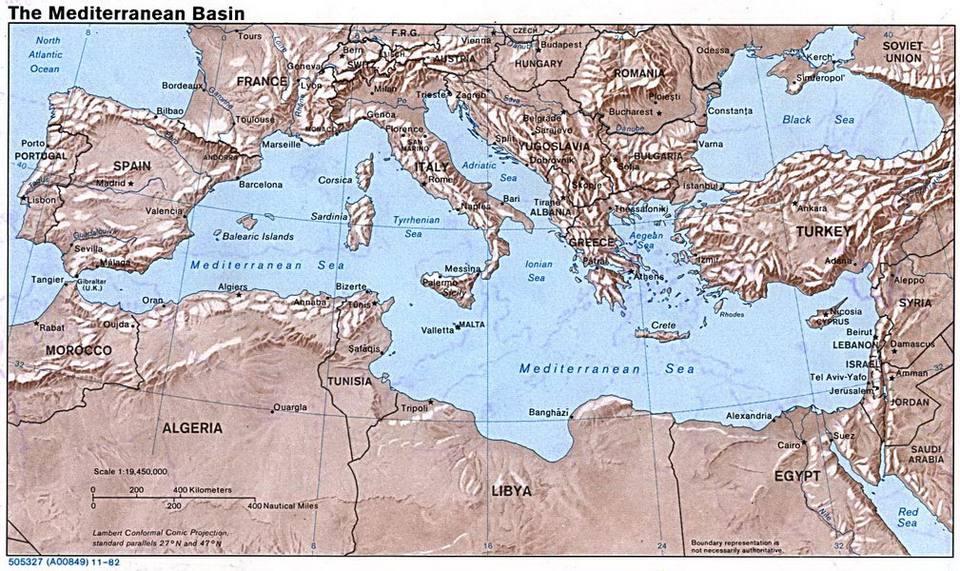 Mediterranean Cruise Map