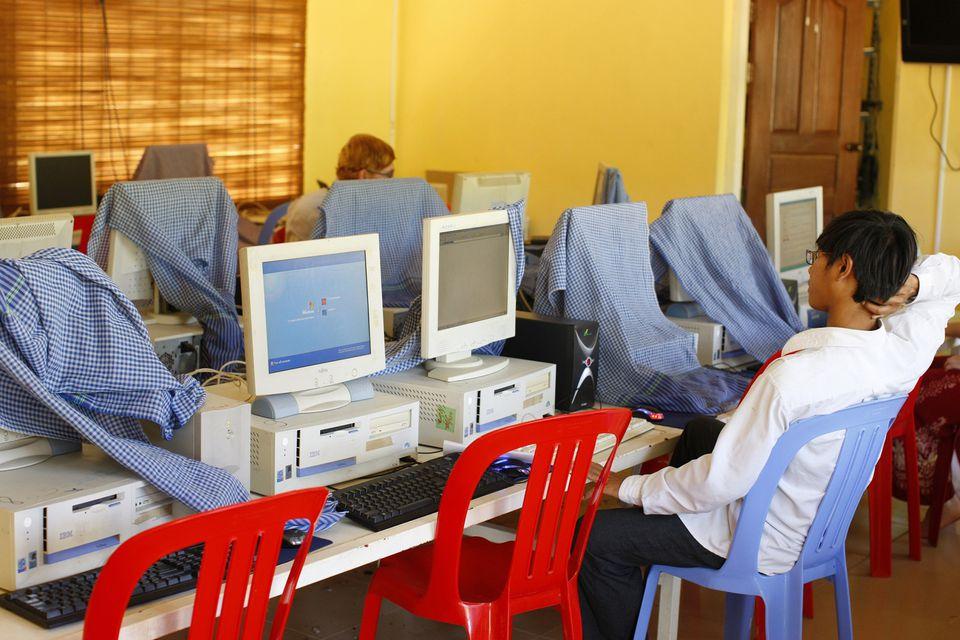 Internet shop in Siem Reap, Cambodia