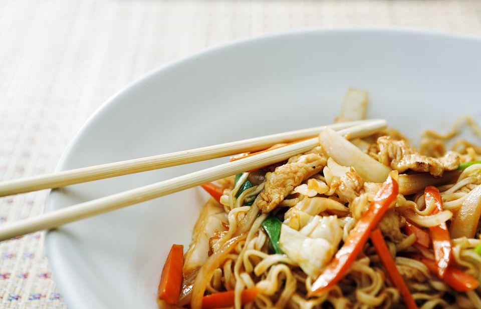 Bowl of Thai stir fried food