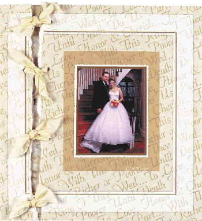 How to make a scrapbook page that looks like it is held together with ribbon.