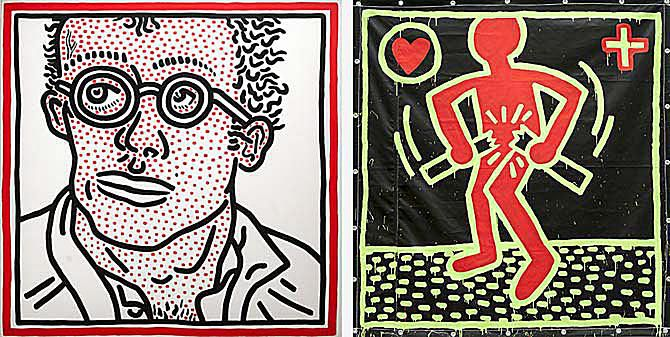 Keith Haring: The Political Line at the deYoung Museum in San Francisco