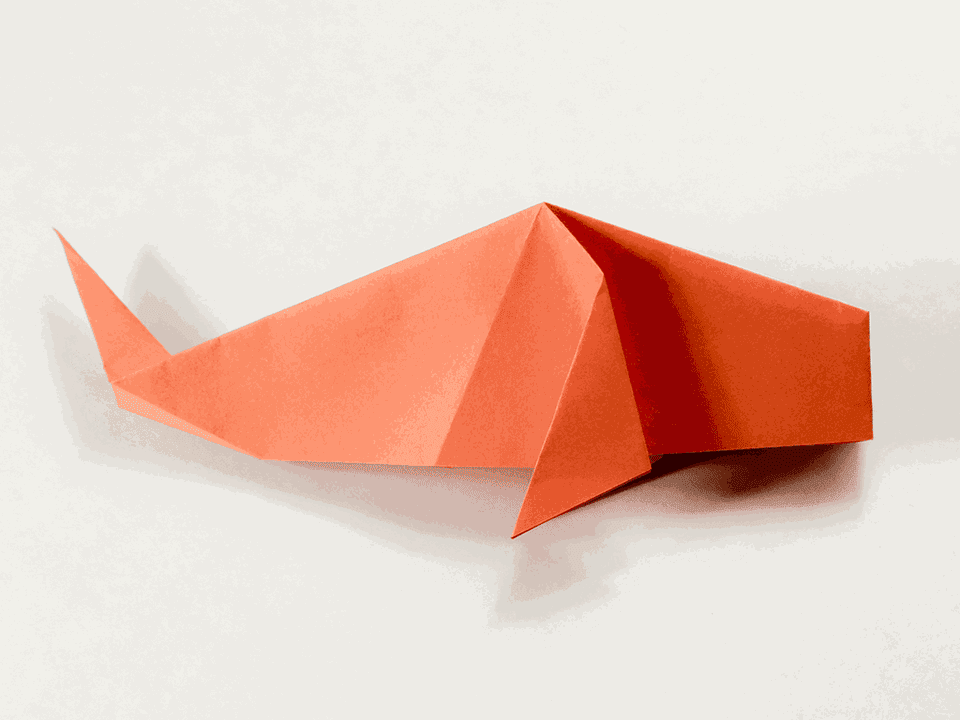 Easy traditional origami fish tutorial for Origami koi tutorial