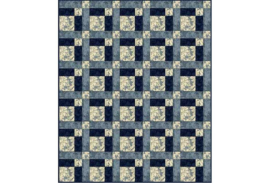 Monochromatic Hopscotch Quilt Layout