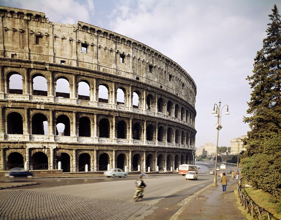 Exterior of Roman Colosseum