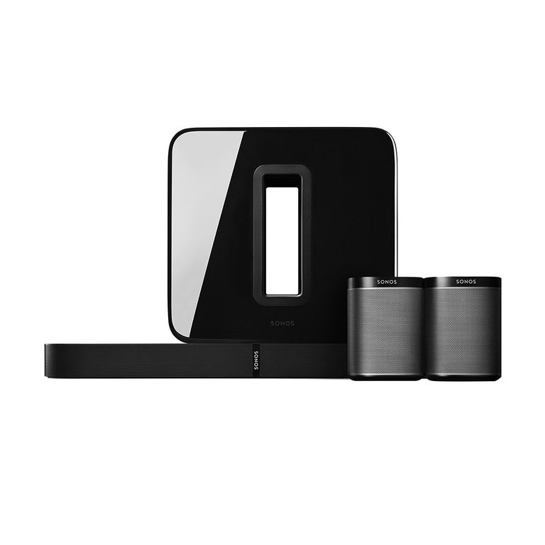Sonos 5.1 Home Theater Digital Music System (PLAYBASE, SUB, PLAY:1) - Black