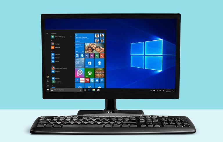 Windows 10 on a computer screen
