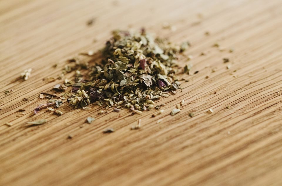 Poultry seasoning is a blend of herbs, usually thyme, sage, marjoram amongst others.