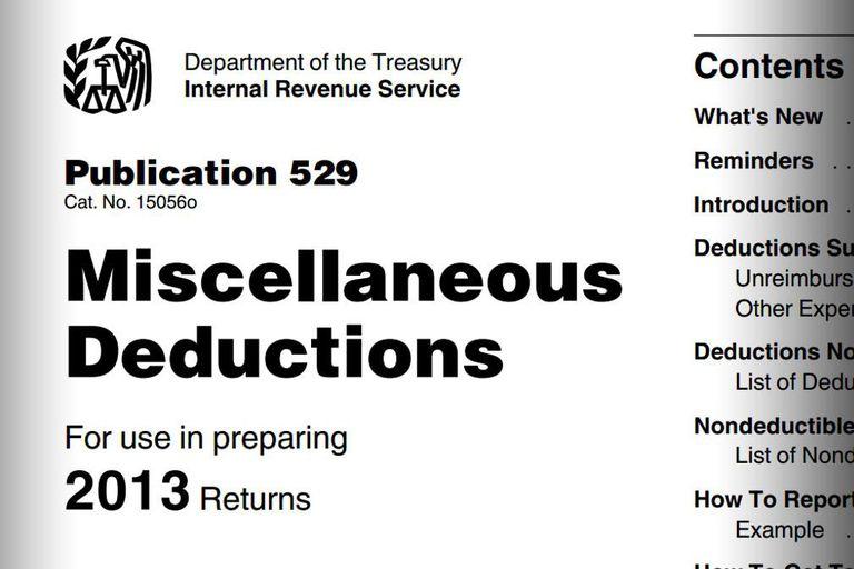 Publication 529 - Miscellaneous Deductions