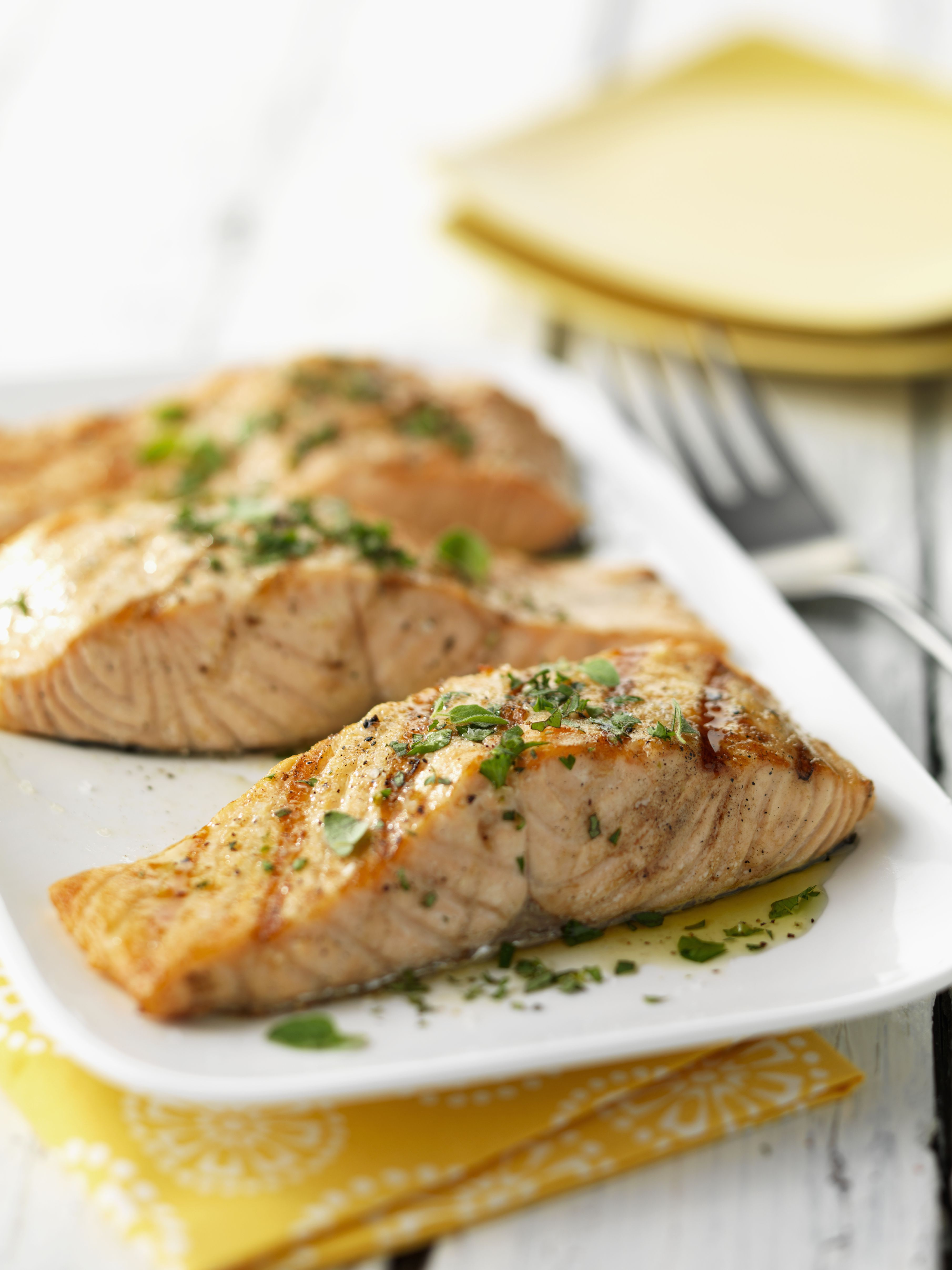 Baked salmon with garlic recipe fast and easy baked salmon with citrus balsamic vinaigrette ccuart Gallery