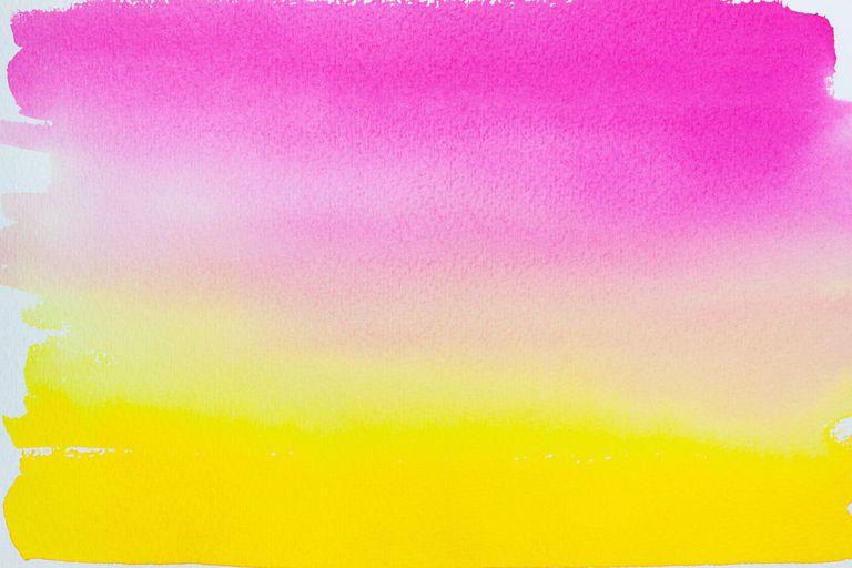 Watercolor glazing