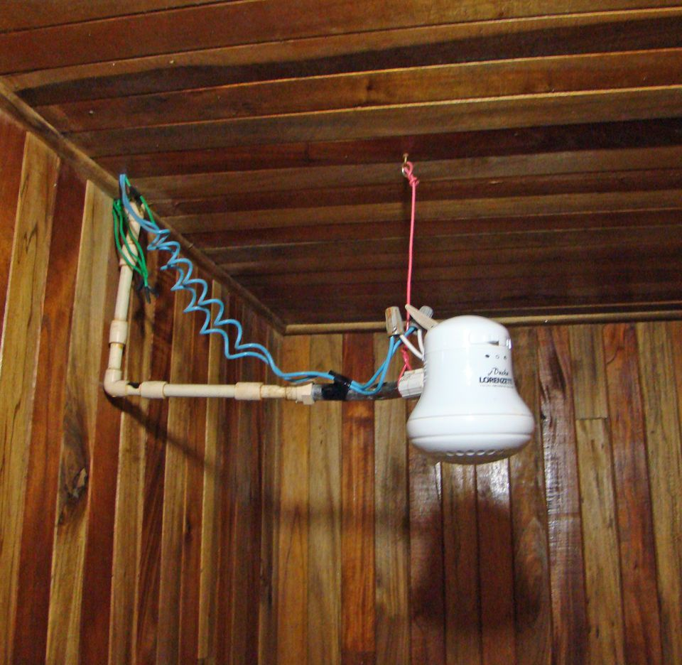 You might get a hot shower in Costa Rica from a shower head like this one.