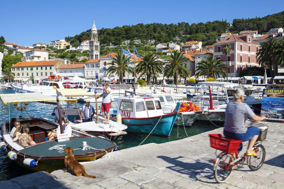 Picturesque Harbour, Stari Grad (Old Town), Hvar, Dalmatia, Croatia