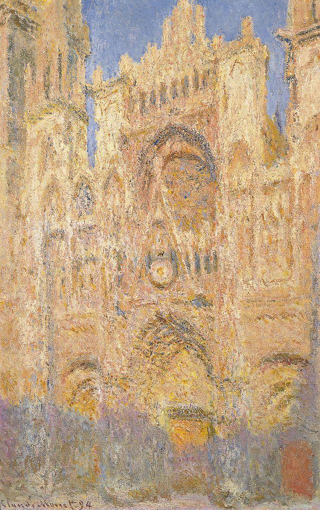Catedral de Rouen en la noche por Monet Claude siglo XIX 1894 óleo sobre lienzo cm 100 x 65