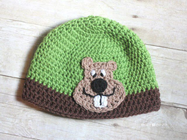 Groundhog Applique Free Crochet Pattern