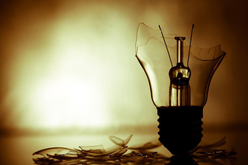 Broken light bulb