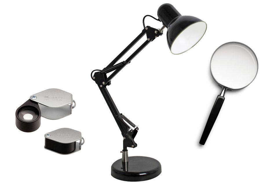 Desklamp, Loupe and Magnifying Glass