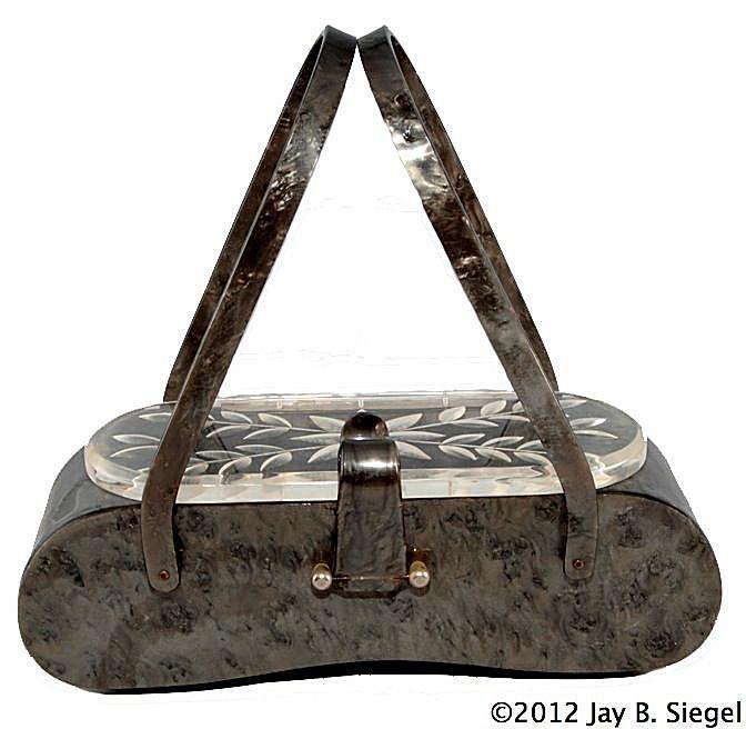Gray Vintage Box Purse by Florida Handbags