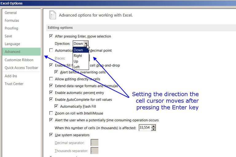 how to change to the cursor in writing