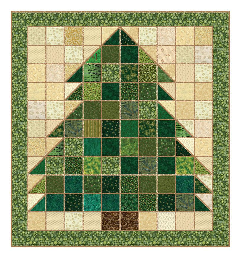 Christmas Tree Rag Quilt Pattern : christmas rag quilt patterns - Adamdwight.com