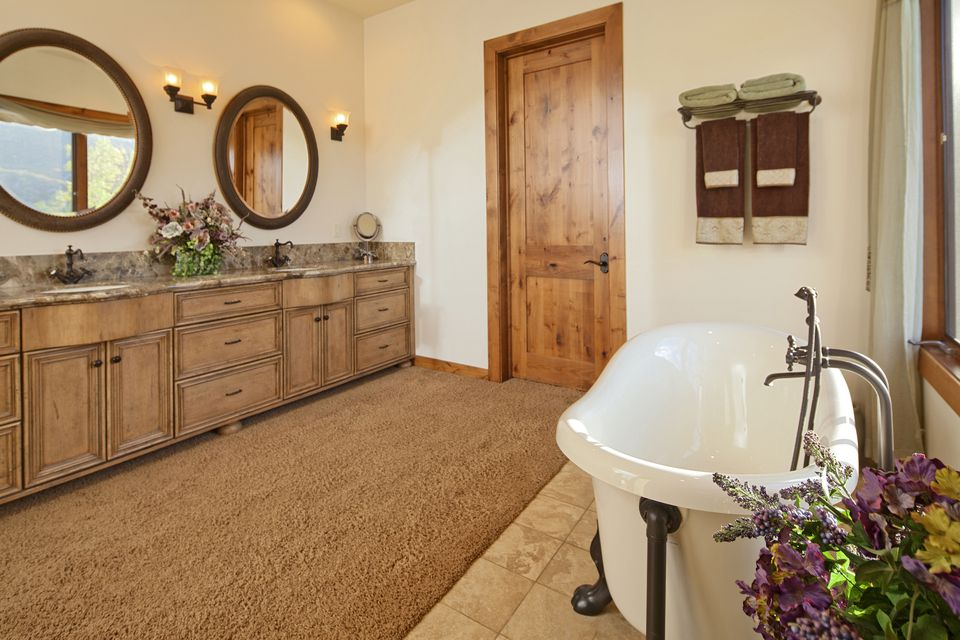 Carpeted bathroom
