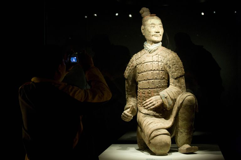 Three Coloured Terracotta Warrior, Xian, China