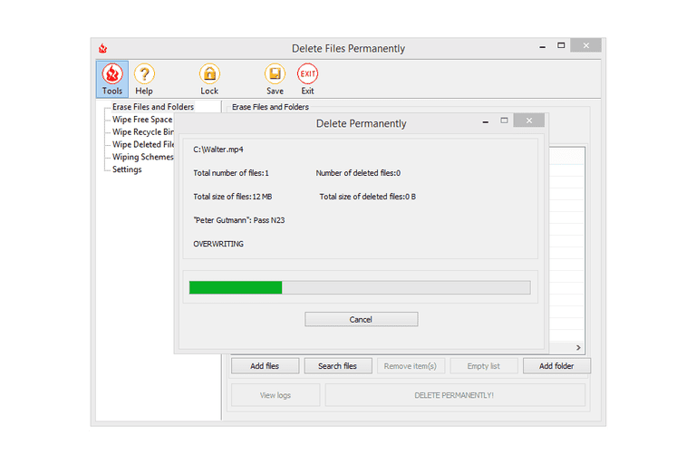 freeraser – portable file shredder
