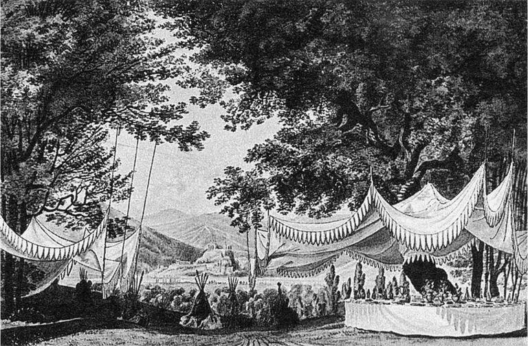 Design for the Act3 finale of 'Der Freischütz' 1821
