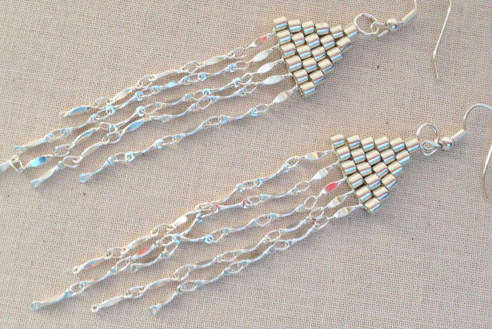 Chan Luu Style brick stitch bead earrings