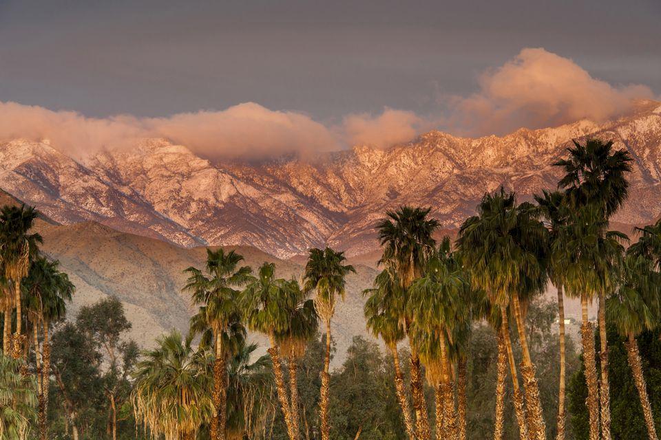 The San Jacinto and Santa Rosa mountain ranges, Palm Springs, California, USA