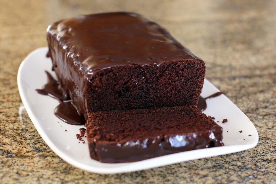 Chocolate Loaf Cake With Chocolate Glaze