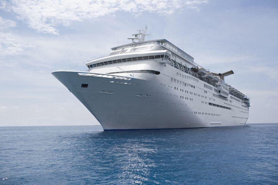 a cruise ship sailing through open water