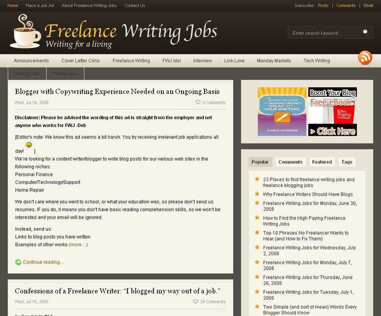 top places to paid blogging jobs  lance writing jobs