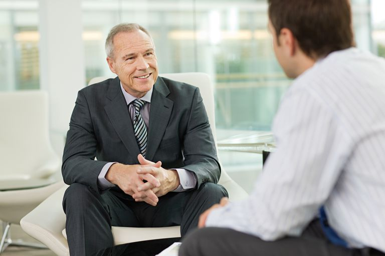 Man listening during interview