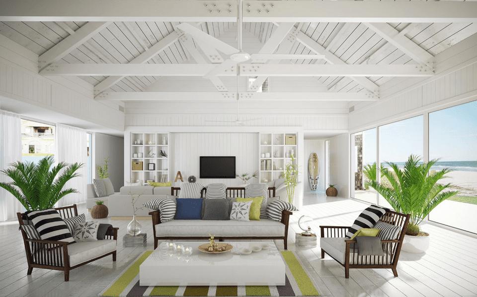 20 beautiful beach house living room ideas for Beach house look interior design