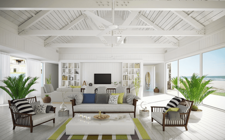 Interior Design Beach House. Minimalist beach house 20 Beautiful Beach House Living Room Ideas