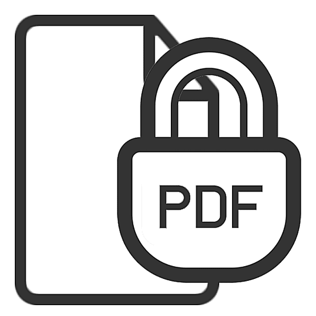 Picture of a PDF lock icon